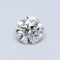 0.50-Carat Round Diamond Ideal F VVS2