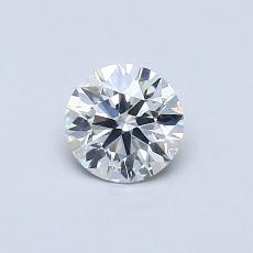 0.50-Carat Round Diamond Ideal G SI1