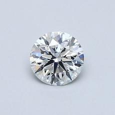 0.50 Carat 圆形 Diamond 理想 D IF