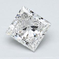 推荐宝石 3:1.01 克拉公主方形钻石