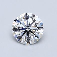 0,80 Carat Redondo Diamond Ideal D VS1