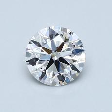0.72-Carat Round Diamond Ideal E VS2