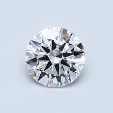 0.71 Carat 圆形 Diamond 理想 D VVS2