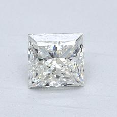 0,90-Carat Princess Diamond Very Good I VVS2