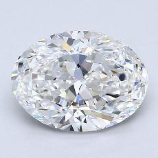 1.50 Carat 橢圓形 Diamond 非常好 F VVS2
