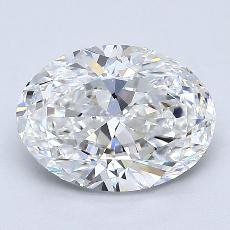 1.50-Carat Oval Diamond Very Good F VVS2