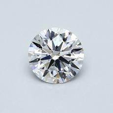 0.60-Carat Round Diamond Ideal D IF