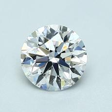 0,90 Carat Rond Diamond Idéale D IF