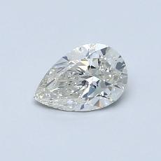 0.50-Carat Pear Diamond Very Good I SI1