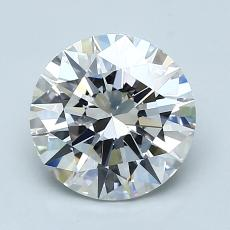 1.80-Carat Round Diamond Ideal D VVS2