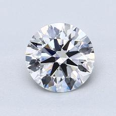 1.03-Carat Round Diamond Ideal D IF