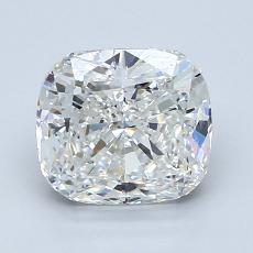 2.01-Carat Cushion Diamond Very Good H VVS2