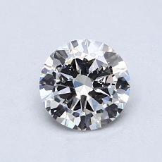 0.72-Carat Round Diamond Good F SI1