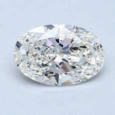 1,00 Carat Ovalado Diamond Muy buena G VS2