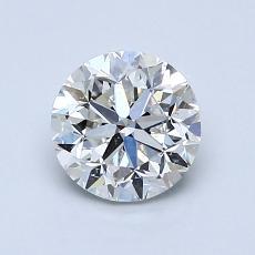 1,01 Carat Rond Diamond Bonne H SI2
