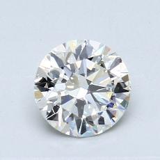 0,80-Carat Round Diamond Ideal J VS1