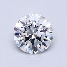 1.01 Carat 圆形 Diamond 理想 D VVS1