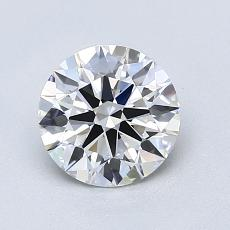 1,08-Carat Round Diamond Ideal E VVS1
