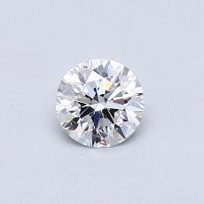 0.40-Carat Round Diamond Ideal D VVS2