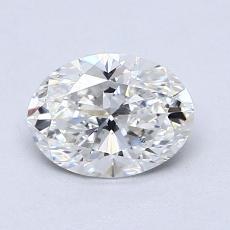 1.00 Carat 橢圓形 Diamond 非常好 G VS2