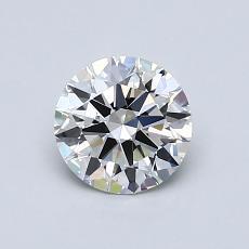 0.75-Carat Round Diamond Ideal G IF