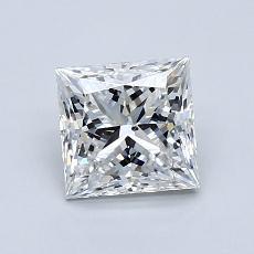 推荐宝石 4:1.13 克拉公主方形钻石