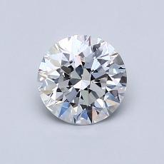 0.80 Carat Redondo Diamond Ideal D VVS1