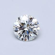 推荐宝石 1:0.55克拉圆形切割钻石