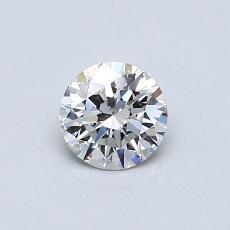 0.50 Carat 圓形 Diamond 理想 F IF