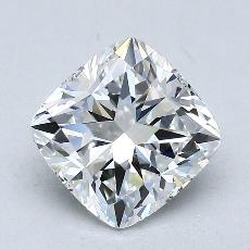 2.02-Carat Cushion Diamond Very Good F VVS1