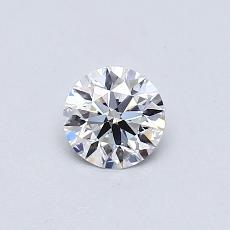 0.41-Carat Round Diamond Ideal D VVS2