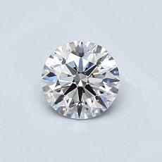 0.50-Carat Round Diamond Ideal D VS2