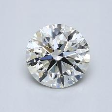 0.90-Carat Round Diamond Ideal J VS2