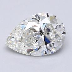 1.51-Carat Pear Diamond Very Good I SI1