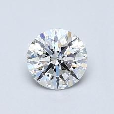 0,60 Carat Rond Diamond Idéale F IF