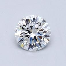 0.80-Carat Round Diamond Ideal E VVS1