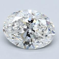 2.00 Carat 橢圓形 Diamond 非常好 G VS2