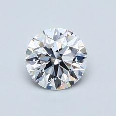 0,70 Carat Rond Diamond Idéale D VVS1