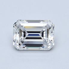 0.92-Carat Emerald Diamond Very Good E VVS1