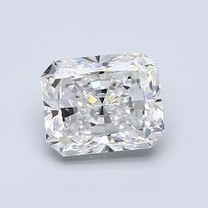 1.00-Carat Radiant Diamond Very Good F VVS2