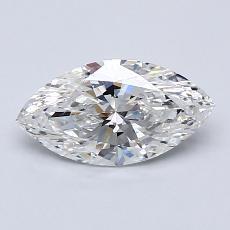 1.01 Carat 榄尖形 Diamond 非常好 F SI1