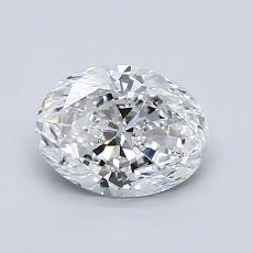 1.00-Carat Oval Diamond Very Good D VS2