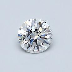 0,52 Carat Rond Diamond Idéale D IF