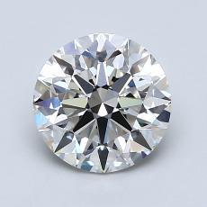 1.51-Carat Round Diamond Ideal I VVS2