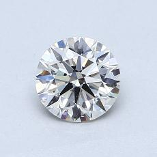 0.70-Carat Round Diamond Ideal H VS1