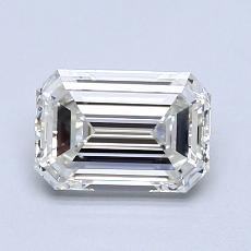 1,00-Carat Emerald Diamond Very Good H VVS2