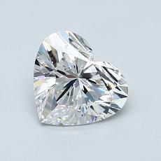 1.00-Carat Heart Diamond Very Good D VVS1