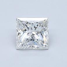 0.80 Carat 公主方形 Diamond 非常好 F VS2