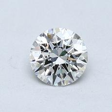 0,50 Carat Rond Diamond Idéale H VVS1