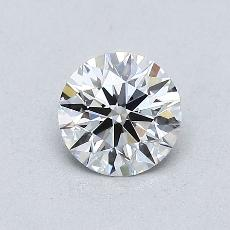 0.60-Carat Round Diamond Ideal E VVS2